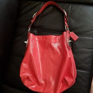 COACH Red Leather Purse